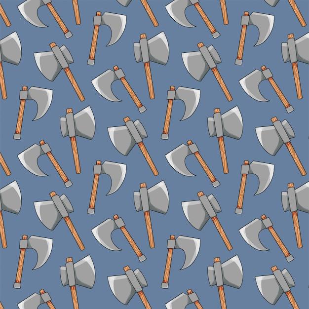 Patrón de herramientas con hachas