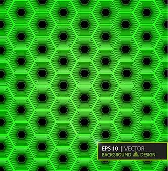 Patrón hexagonal de fibra de carbono verde. fondo y textura.