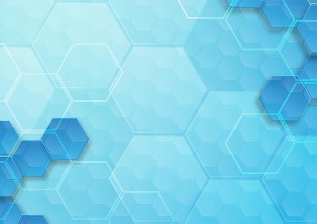 Patrón hexagonal fondo abstracto y papel tapiz geométrico con forma de portada web