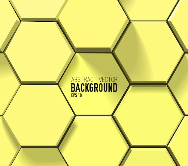 Patrón hexagonal geométrico amarillo