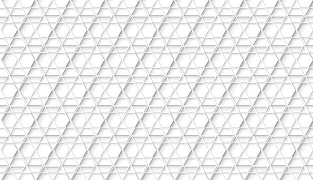Patrón hexagonal geométrico blanco transparente con sombras de estilo planos