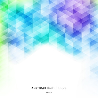 Patrón de hexágonos coloridos abstractos sobre fondo blanco