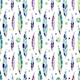 Patrón de hoja estilizada inconsútil moderno. fondo brillante para el diseño textil y envoltura de moda