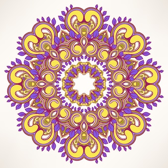 Patrón de hoja redonda púrpura