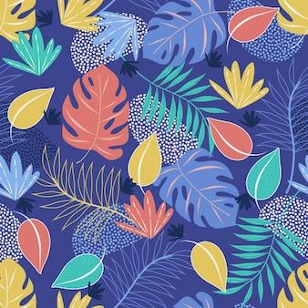 Patron para hojas abstractas dibujadas a mano