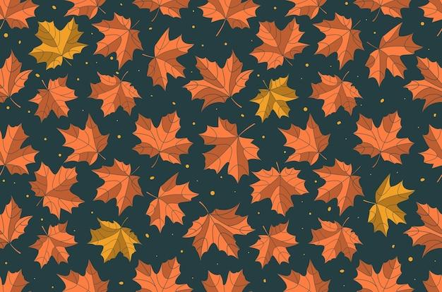 Patrón de hojas de arce