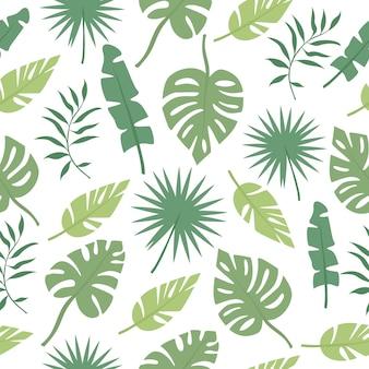 Patrón de hojas de palma