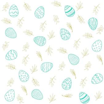 Patrón de huevos de pascua feliz