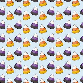 Patrón de iconos dulces caramelos