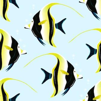 Patrón de ídolo morisco, peces tropicales