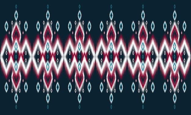 Patrón de ikat étnico geométrico diseño tradicional oriental para el fondo.