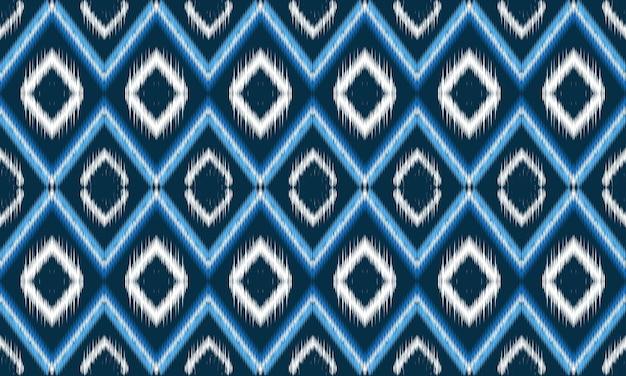 Patrón de ikat oriental étnico geométrico tradicional