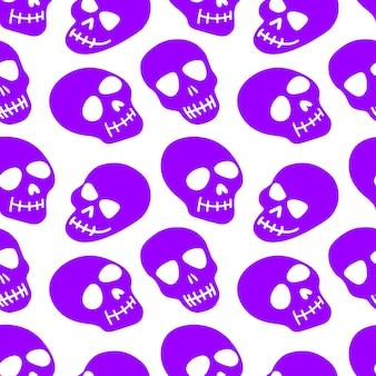 El patrón de la ilustración skullvector.