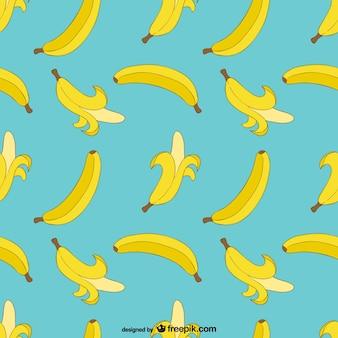 Patrón imprimible de plátanos