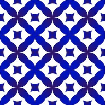 Patrón índigo azul y blanco