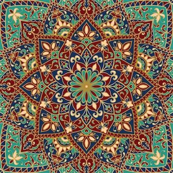 Patrón indio abstracto con mandala. fondo hermoso de la vendimia.