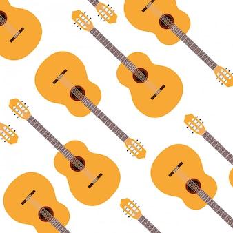 Patrón de instrumento musical de guitarra