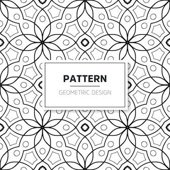 Patrón islámico mandala sin costuras. elementos vintage