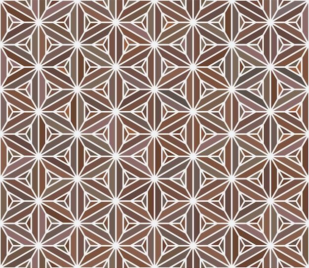 Patrón japonés transparente. simulación de la técnica de marquetería.