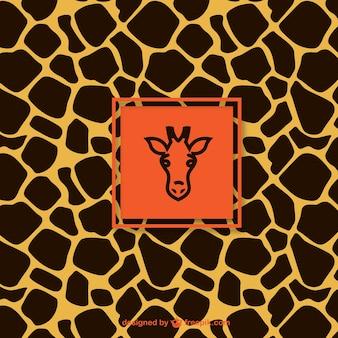 Patrón de la jirafa con la etiqueta