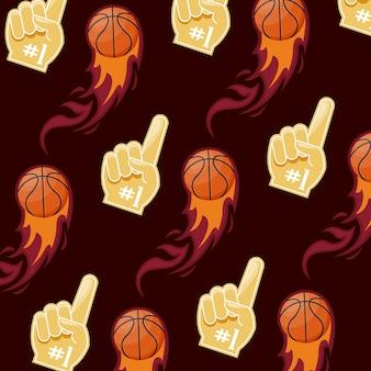 Patrón de juego de baloncesto deportivo.