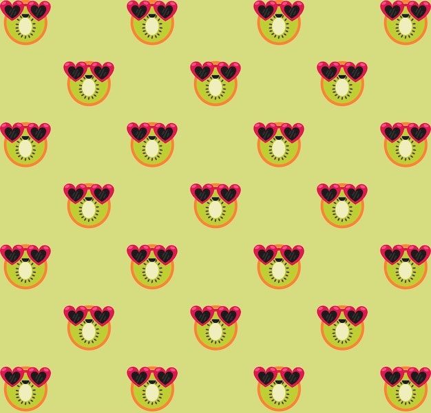 Patrón de kiwi verde
