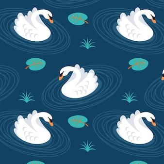 Patrón lindo cisne