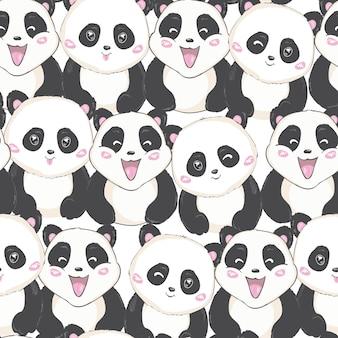 Patrón lindo panda