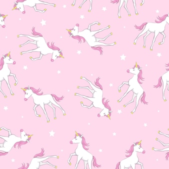 Patrón lindo unicornio