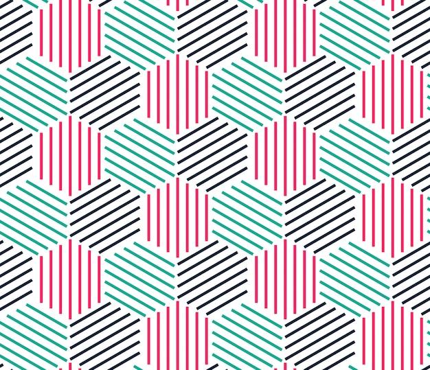 Patrón de línea geométrica inconsútil