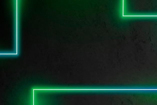 Patrón de línea verde neón sobre un fondo oscuro