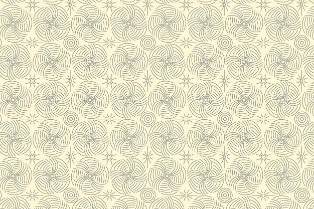 Patrón de líneas abstractas de diseño plano lineal