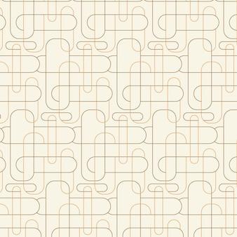 Patrón de líneas abstractas planas lineales
