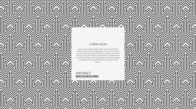 Patrón de líneas decorativas abstractas de forma de flecha w