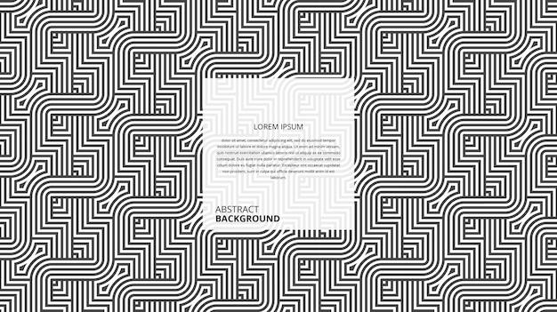 Patrón de líneas de forma cuadrada curvilínea diagonal geométrica abstracta
