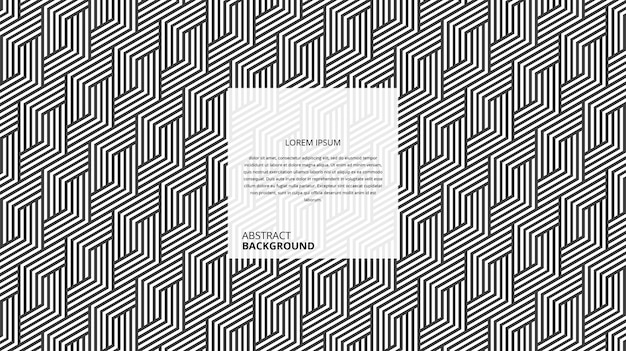 Patrón de líneas de forma decorativa abstracta