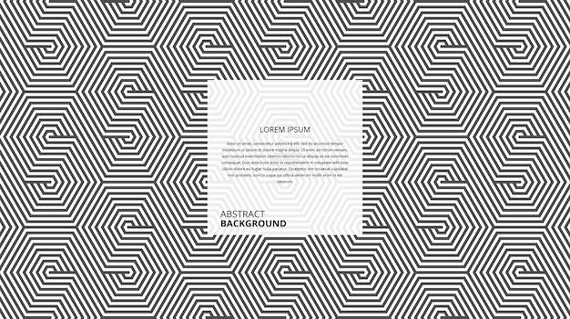 Patrón de líneas de forma de zigzag hexagonal geométrico abstracto