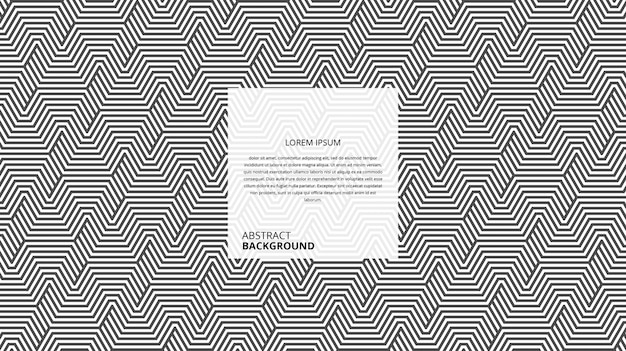 Patrón de líneas geométricas abstractas en forma de zigzag hexagonal