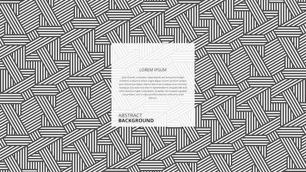 Patrón de líneas rectas decorativas abstractas