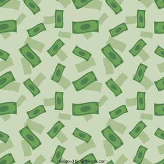 Patrón de lluvia del dinero