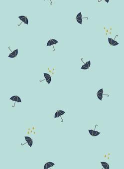 Patrón de lluvia de vector