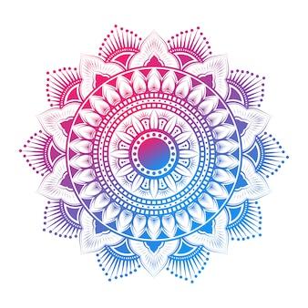 Patrón de mandala árabe colorido