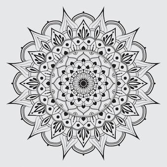 Patrón de mandala arabesco simple para tarjeta de boda, invitación, folleto, folleto