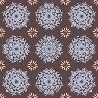 Patrón de mandala dibujado a mano sin costuras para imprimir en tela o papel. elementos decorativos vintage en estilo oriental. islam, árabe, indio, turco, motivos otomanos.