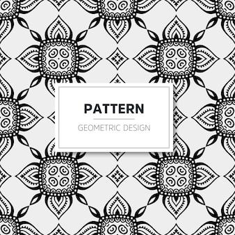 Patrón de mandala de lujo. diseño geométrico