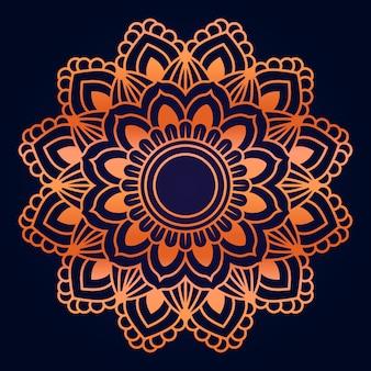 Patrón de mandala de lujo estilo islámico est
