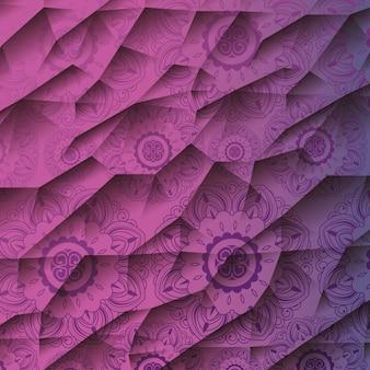 Patrón de mandala ornamental