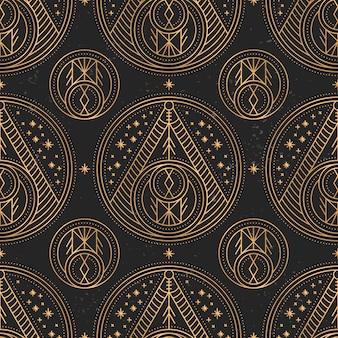 Patrón de mandala de oro de lujo