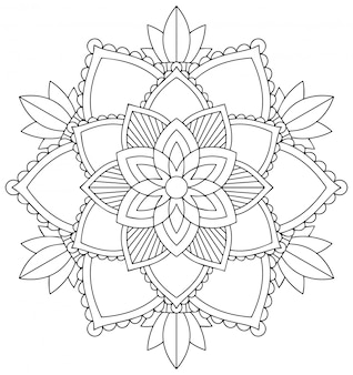 Patrón de mandala sobre fondo blanco