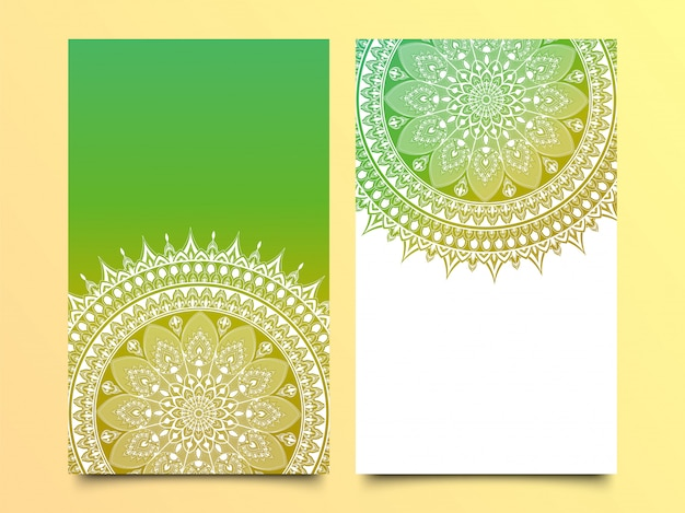 Patrón de mandala de vector en dos colores para plantilla